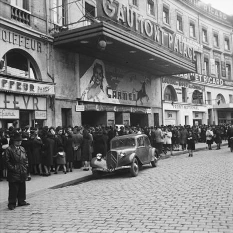 #JeudiArchives : File d'attente devant le Cinéma Gaumont Wilson pour la sortie de Carmen (1950) | Archives municipales de Toulouse | Scoop.it