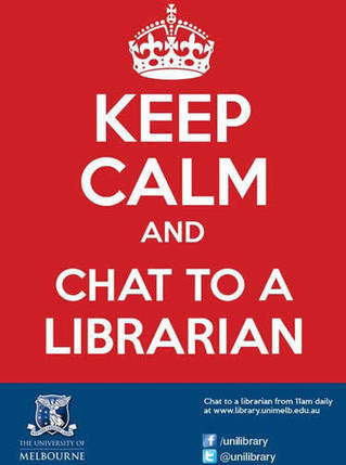 Keep Calm and Chat to a Librarian | poster - MUSSE | The Information Professional | Scoop.it