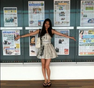 Jennifer Tran, 15, Wears Skirt Made Of Recycled Newspapers | International Baccalaureate Program | Scoop.it