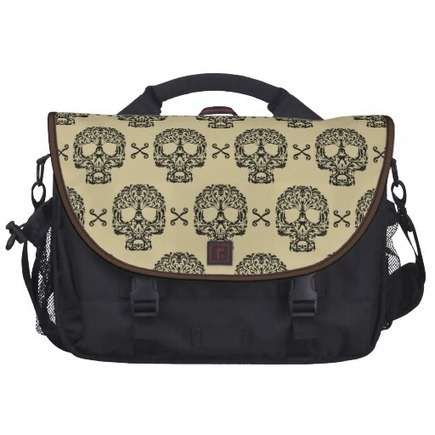 Rococo Skull and Crossed bones damask Bag For Laptop from Zazzle.com | Laptop Bags | Scoop.it