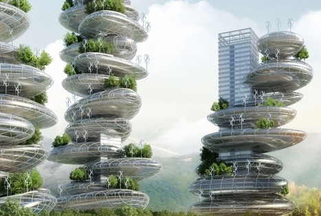 "Self-Sustaining ""Farmscrapers"" are Cities in Stackable Steel Rocks 