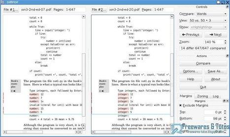 DiffPDF : un logiciel gratuit pour comparer les fichiers PDF | Geeks | Scoop.it