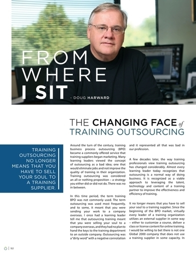 Training Industry Magazine - Spring 2016 - The Changing Face of Training Outsourcing | Future of corporate learning | Scoop.it
