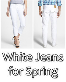 Spring is Here - Time for White Jeans | Jeans Fashion | Scoop.it