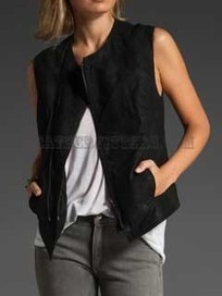 Stylish Suede Women Leather Vest | Leather Apparels World-Wide | Scoop.it