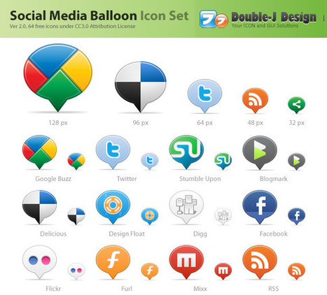 45+ Fresh and Free Social Media Icon Sets | The 21st Century | Scoop.it