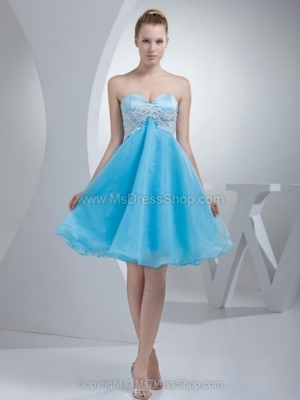 Empire Sweetheart Organza Knee-length Appliques Homecoming Dresses | Cocktail dresses online | Scoop.it
