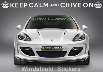 Keep Calm and Chive On Windshield #Sticker - KCCOdecals.com #kcco | KCCO | Scoop.it