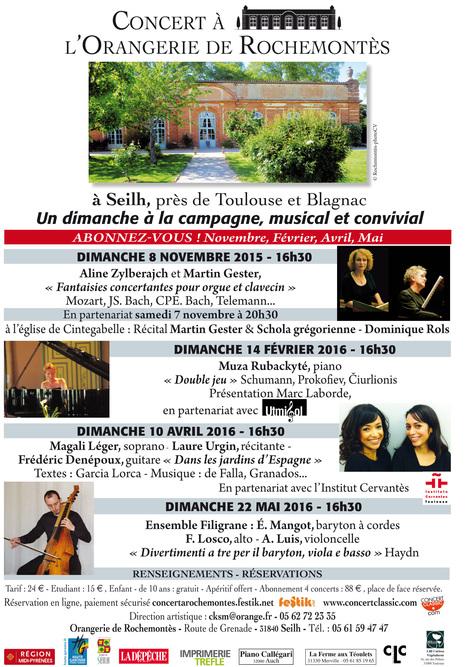 Concerts à l'Orangerie de Rochemontès SAISON 2015-2016 - Abonnements ouverts ! | FOLLE de MUSIQUE | Scoop.it