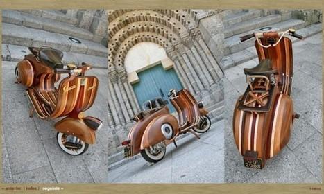 Een echte Vespa van hout! - VESPA FANS | The Daily Vespafans | Scoop.it
