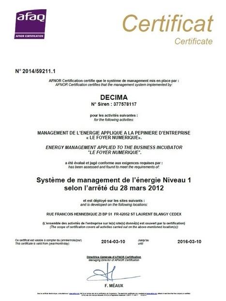 Ils passent l'ISO 50001 ! Encore un ! | Découverte | Scoop.it