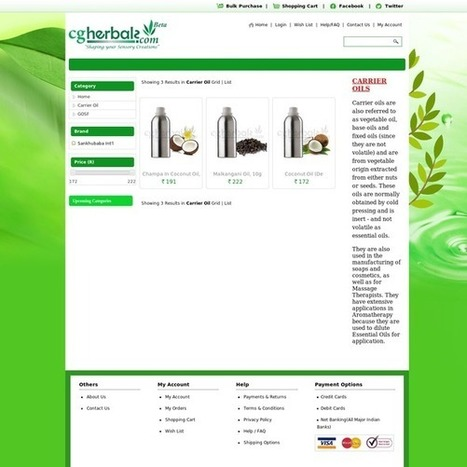 Buy Carrier, Base and Fixed Oils | Herbals | Scoop.it