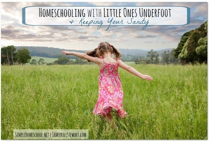 Homeschooling with Little Ones Underfoot and Keeping Your Sanity
