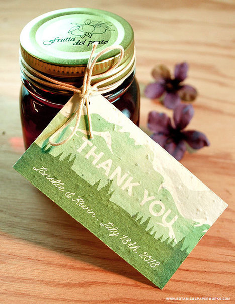NEW Mountain Seed Paper Wedding Invitations | Crafts and creativity | Scoop.it
