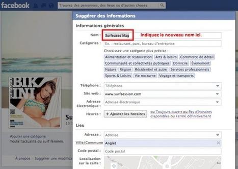Comment Changer le Nom de votre Page Facebook ? Astuce 2013 | Emarketinglicious | Reseaux sociaux | Scoop.it