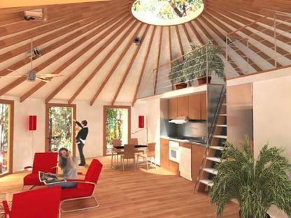 Construction d'une yourte contemporaine ! | Maisons éco | Scoop.it