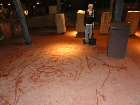 Who Knew Disney Janitors Made Art With Their Mops? #art #streetart #Disney #Janitors #drawing #water | Luby Art | Scoop.it