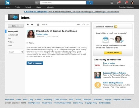 LinkedIn Refreshes Its Inbox With Message Previews And A Simpler Interface | Tech News: Gadgets | Scoop.it