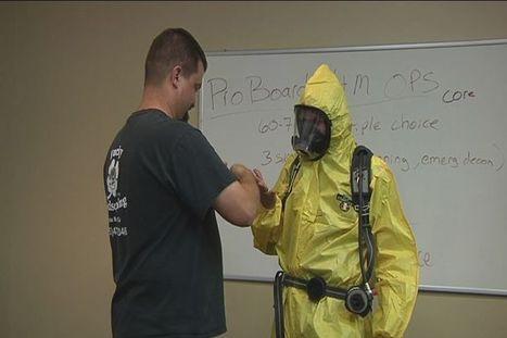 First Responders Suit Up To Train For Potential Hazmat Incident - KCOY.com | Hazardous Materials Training | Scoop.it