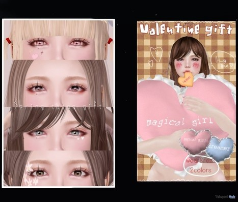 Heart Pillow And Spring Face Tattoos Group Gift By ALICE   Teleport Hub - Second Life Freebies   Second Life Freebies   Scoop.it