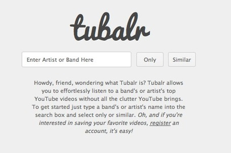 Tubalr -allows you to effortlessly listen to  YouTube videos without all the clutter YouTube brings. | The *Official AndreasCY* Daily Magazine | Scoop.it