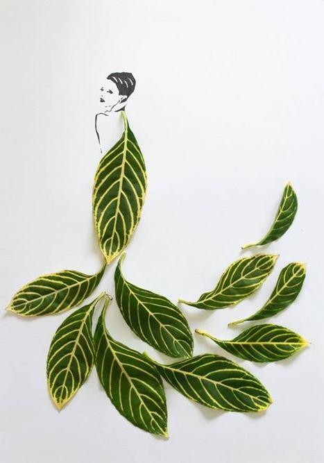 Fashion in Leaf – Les robes en feuilles d'arbres | ILLUSTRATION | Scoop.it