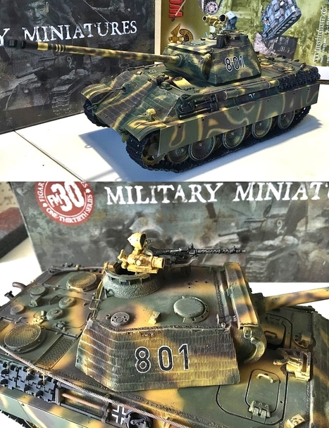 New Figarti Panther Tank at 2016 Chicago Toy Soldier Show | Military Miniatures H.Q. | Scoop.it