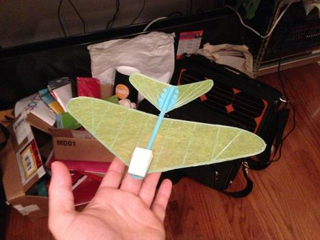 Working glider 3D printed directly onto tissue paper | 3D Printing and Fabbing | Scoop.it