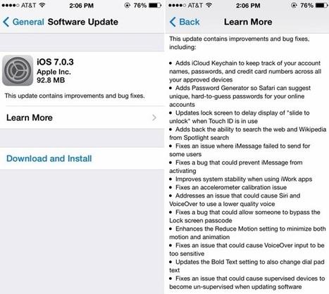 Download iOS 7.0.3 | Unlock iOS 7 | Scoop.it