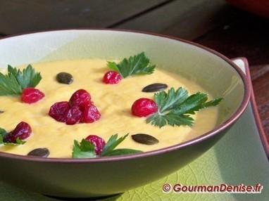 Velouté de potiron aux cranberries (ou canneberges) | WELLnutrifood | Scoop.it