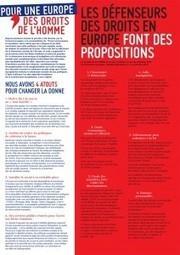 Une Europe des droits, ici, maintenant, pour tous ! | Ligue des Droits de l'Homme – Section de Loudéac centre Bretagne | Ligue des droits de l'Homme, section de Loudéac centre Bretagne | Scoop.it