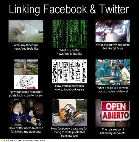 Linking Facebook & Twitter | What I really do | Scoop.it