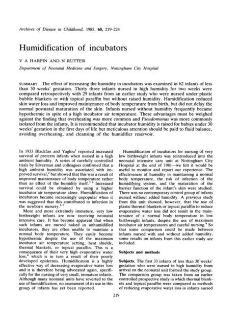Humidification of incubators. | Aspect2 Kangaroo Care | Scoop.it