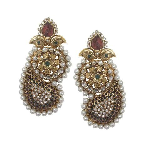 Smoke Diwali Special Traditional Earrings SMER545   Online Shopping in India   Scoop.it