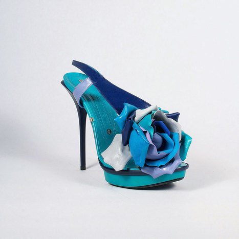 Gianmarco Lorenzi Shoes Womens Blue Platform Sandals | Designer Womens Shoes | Scoop.it