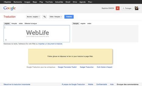 Google Traduction : Traduire un site internet par glisser-déposer   Content & Co   Scoop.it
