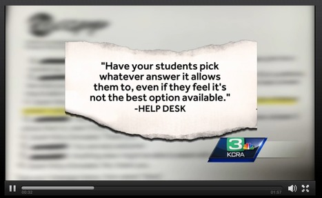 "Sacramento Teacher Claims Students' #CAASPP #SBAC Test Scores Jeopardized // KCRA  | ""Testing, Testing, 1, 2, 3..."" 