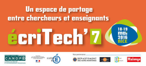 ÉcriTech'7 : Ce que le numérique et les écrans changent à l'écrit | TELT | Scoop.it
