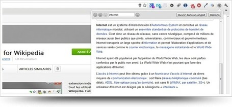 Utiliser Wikipedia depuis la barre d'outils Google Chrome | Managing options | Scoop.it
