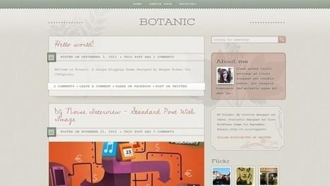 Botanic - A Beautiful WordPress Theme by cssigniter | Free & Premium WordPress Themes | Scoop.it