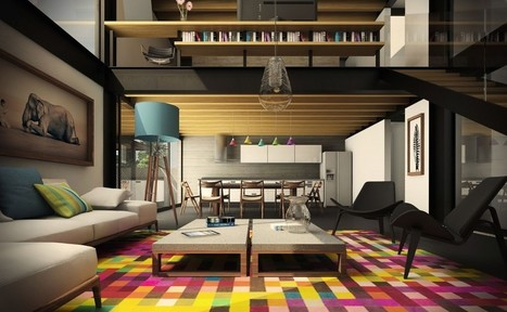 Awesomely Stylish Urban Living Rooms   design and architecture   Scoop.it