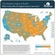 How much $100 is worth in your state | An-Min's Geospatial World | Scoop.it