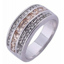 Cincin Pria White Gold Filled Ring 10 USA (diameter 19.8mm) | Toko Bagus | Scoop.it