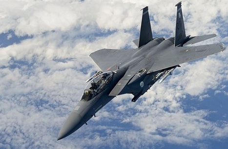 An Air Force F-15E Strike Eagle conducts aerial training during exercise Southern Strike 15 | Military Shopping | Scoop.it