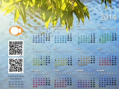 Calendrier 2014 à télécharger gratuitement - Le Blog Com | Divers | Scoop.it