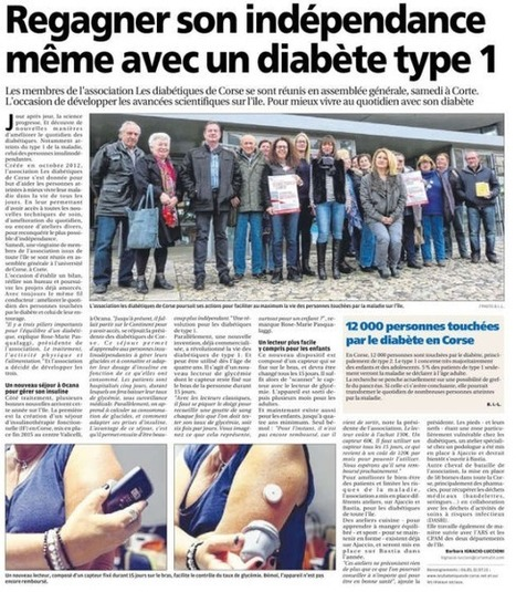 Assemblée Générale Ordinaire de l'année 2015 | AFD20 | Diabétiques de Corse | ADC | Scoop.it