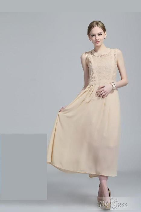 Gorgeous Slim Chiffon Organza Lace Maxi Dress | beauty&fashion clothing | Scoop.it