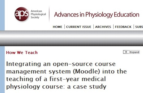 Integrating an open-source course management system (Moodle) into the teaching of a first-year medical physiology course: a case study | MoodleUK | Scoop.it