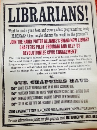 Librarians unite! Create a Harry Potter Alliance Library Chapter | LibraryLinks LiensBiblio | Scoop.it