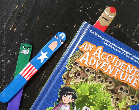 Avengers Bookmarks Craft for Kids | Crafts by Amanda | Manualidades para niños | Scoop.it